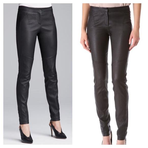 Diane Von Furstenberg Leather Legging Pants 4